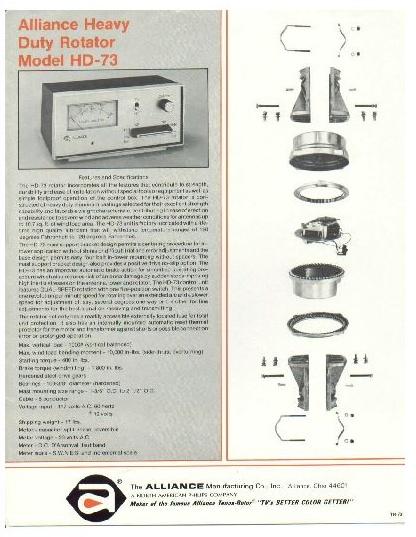 index of 4 4x6on radio manuals antenna rotators alliance hd73 rotator pic1 pdf