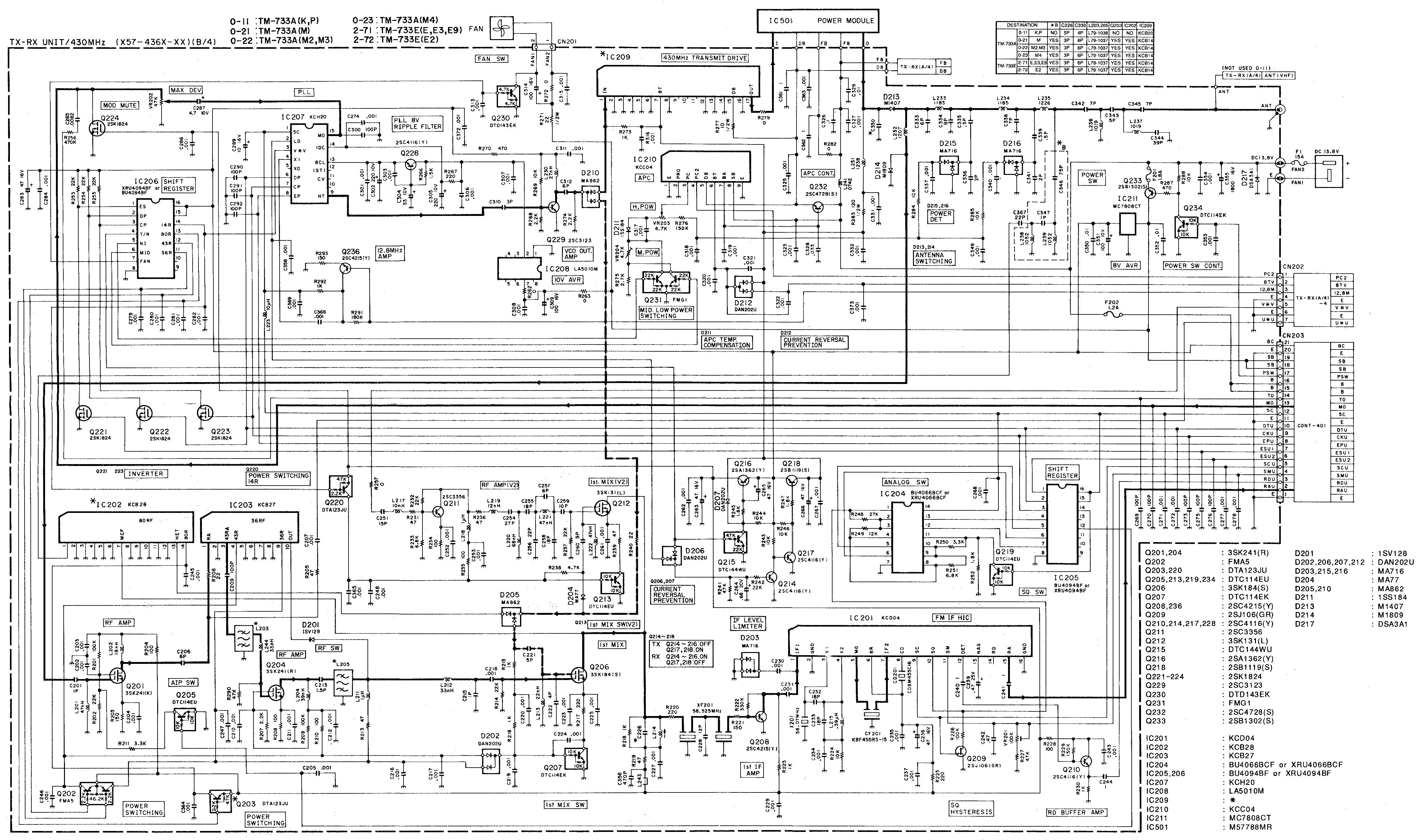 KENWOOD--TM-733-Schema2 Icom Mic Wiring Diagram on