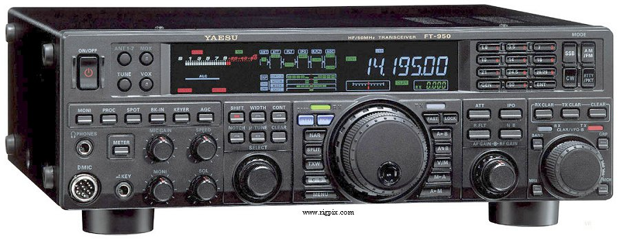 Yaesu ft-950 hf / 50mhz transceiver / manual / microphone ham.