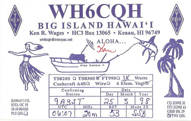 Summary of DXCC entities confirmed by 9A3ST on HF (No WARC)