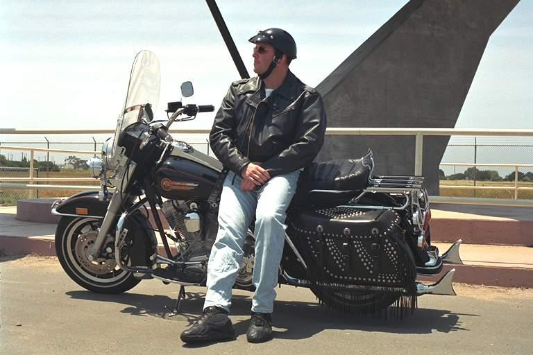 92 FLHS Harley Davidson Motorcycle Photo Take At Pt Mugu Naval Air Station