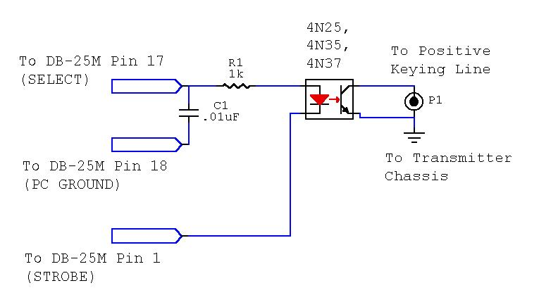 Optoisolated Keying circuit