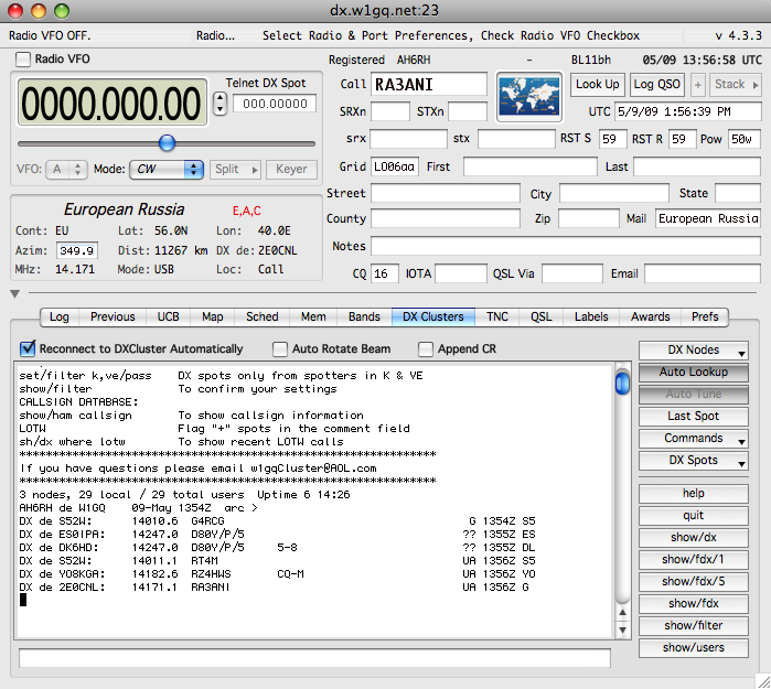 Freeware amateur radio logging