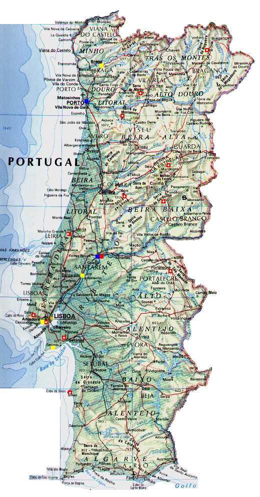 mapa de portugal legendado Mapa De Portugal Legenda | thujamassages mapa de portugal legendado