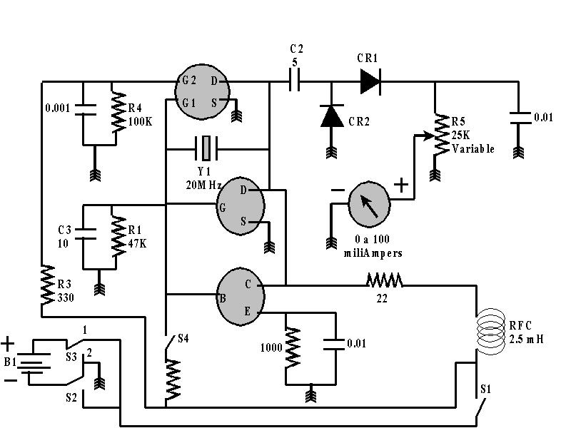 Circuito Transistor : Cristales y transistor