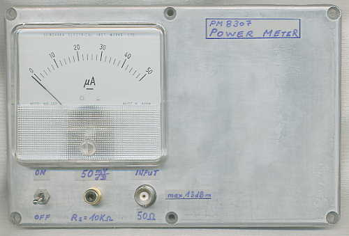 PM8307 -- A Simple RF-Power Meter Using The AD8307 at DF7TV