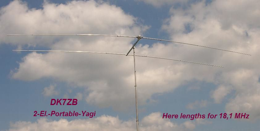 2 Element Ortabel Yagi 10m 20m
