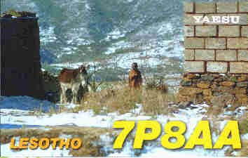 typycal rural winter scenery in Lesotho - 10748 Bytes