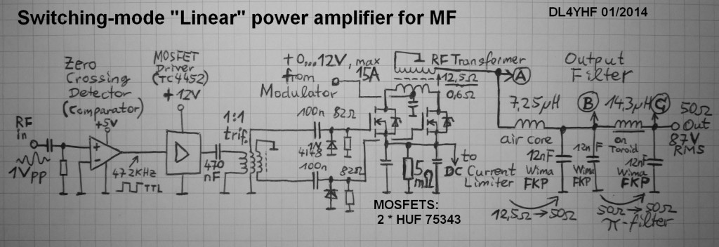 Linear power amplifier with switching-mode modulator