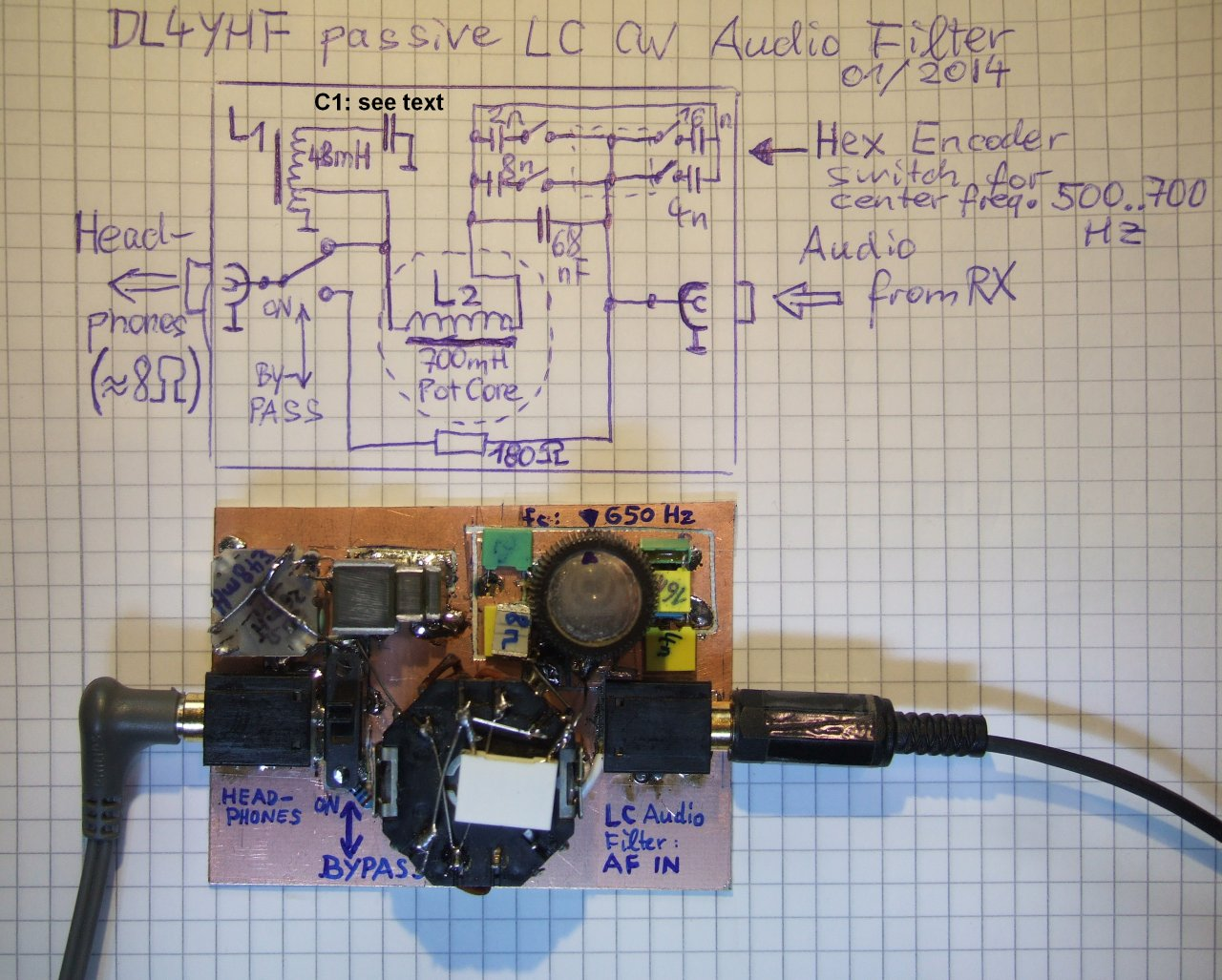 Noise Filter Circuit Diagram Passive Lc Cw Audio Schematics And Prototype Of The