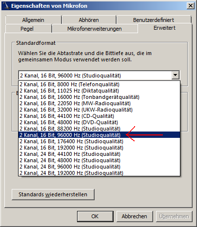 (Screenshot Of The U0027Microphone Propertiesu0027 Panel On A Netbook With U0027germanu0027  Windows 7. Surprise Surprise .. The X61su0027 Onboard Audio Device Really  Supports ...