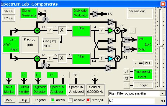 Spectrum Lab Circuit Components