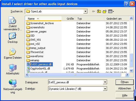 Spectrum Lab Configuration Dialog