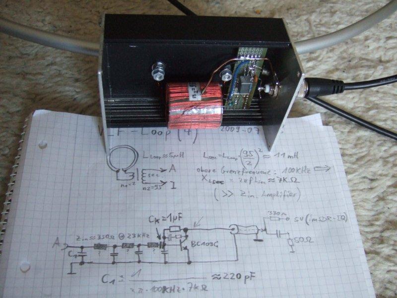 VLF single-turn air core loop