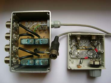Antenna switching switch operated by remote control