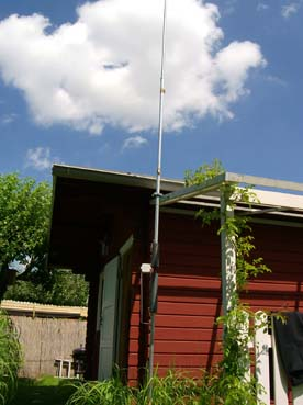Home brew HF2V, vertical antenna for 40 and 80 m