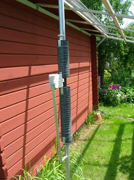 Home brew HF2V, vertical antenna for 40 and 80m