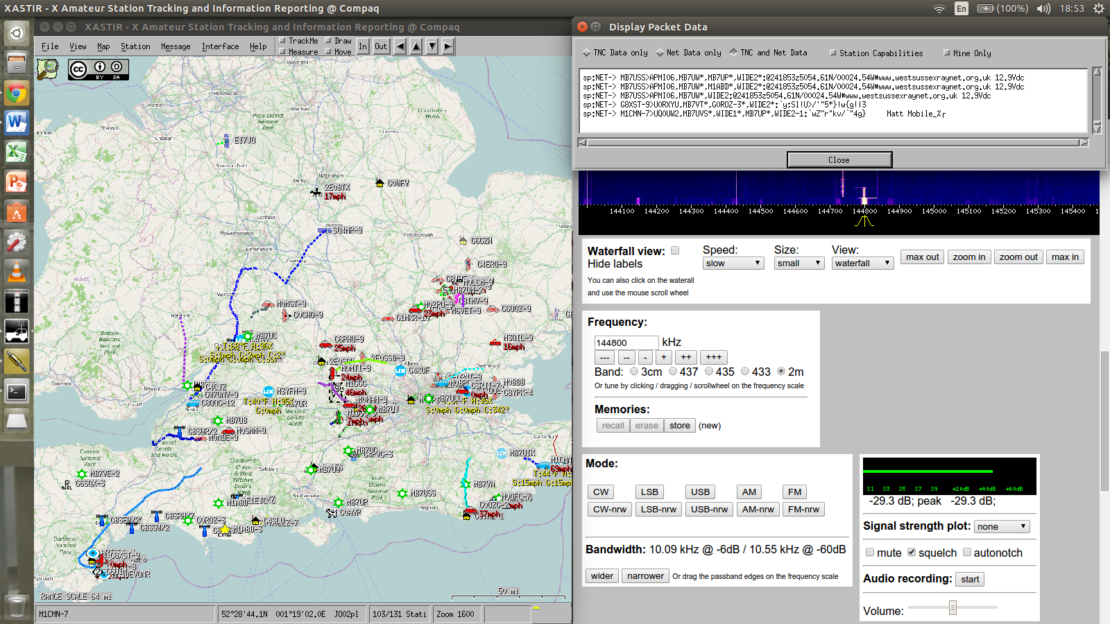APRS from WebSDR