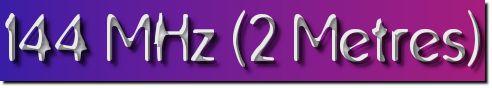 144 MHz (2 metres)