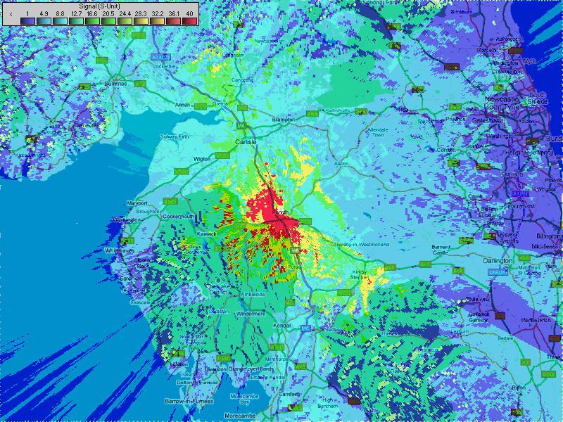 25W Omni Colinear aerial signal strength/coverage