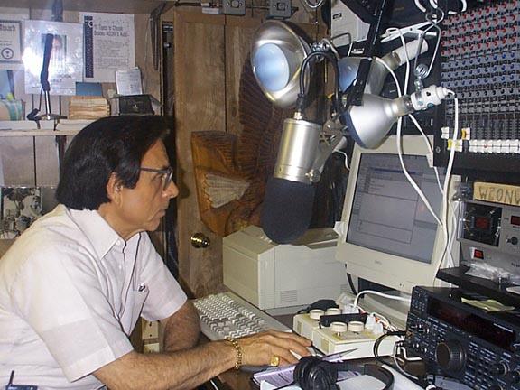 Bill W2ONV transmitting from Studio B