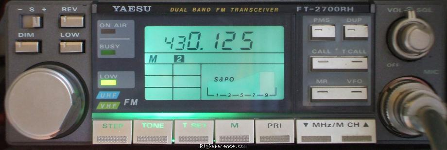 Yeasu FT-2700RH 144/432 MHz FM transceiver