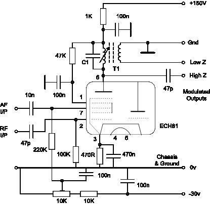 schaltung nf audio splitter