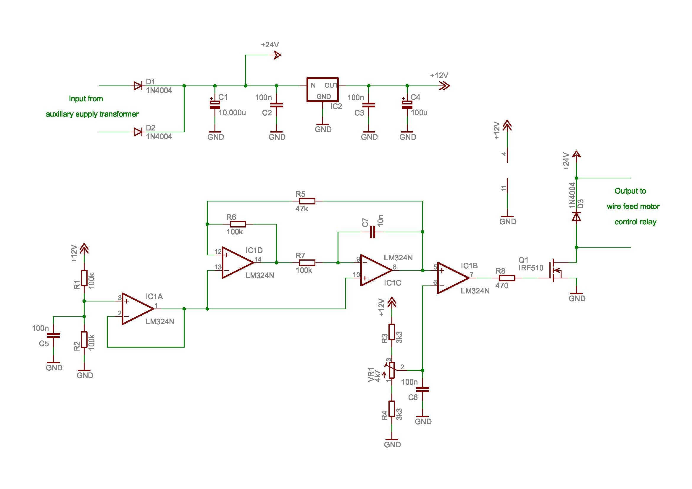 Pwm Schematic Wiring Library Simple Using Sg3525 Aux Psu