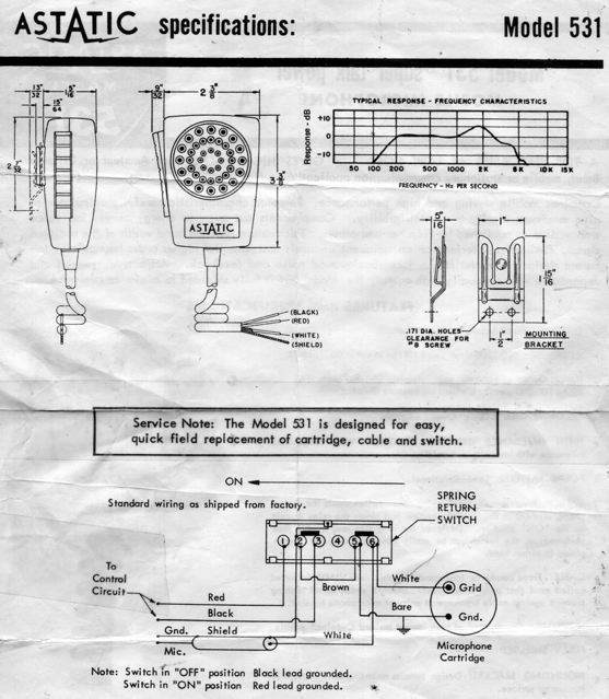 please note astatic d104 schematic