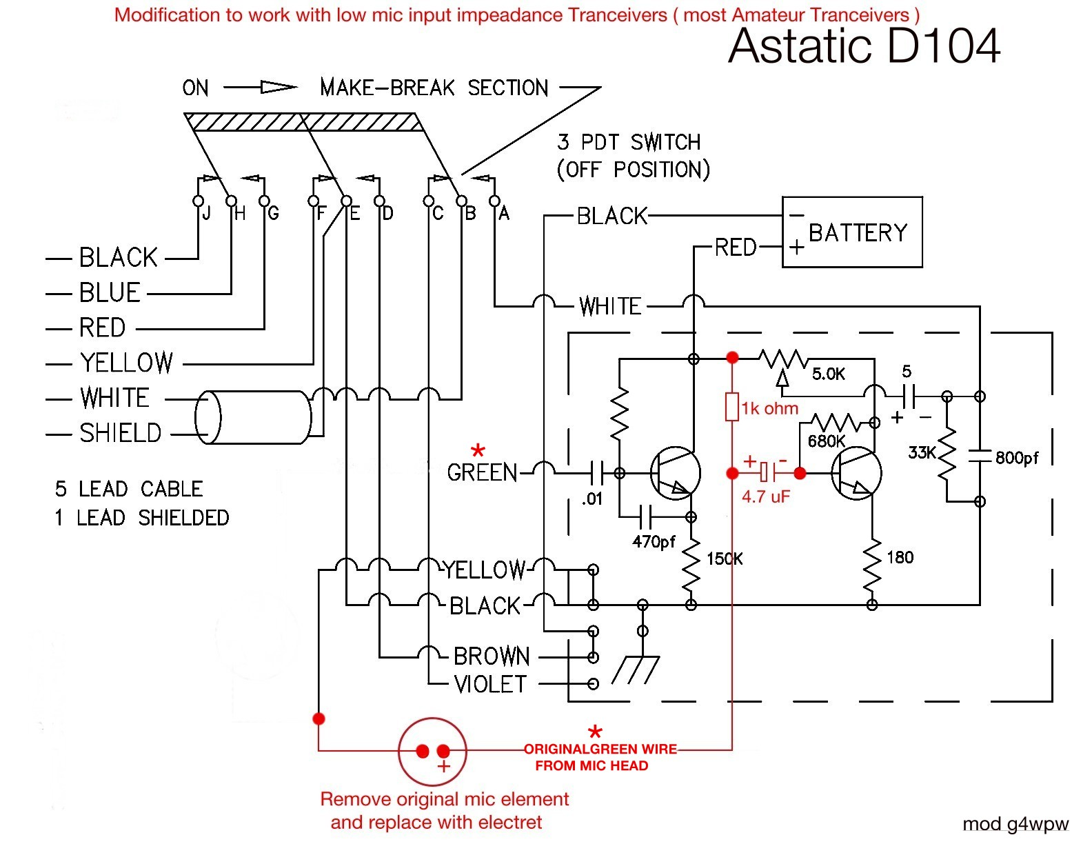 Astatic 636l Mic Wiring Diagram Trusted Diagrams Co 4 Pin Microphone D 104 Power Schematics Data U2022 Back