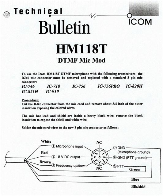 hm118tnmod hm118 icom hm-152 microphone wiring diagram at couponss.co