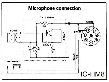ichm8 Icom Mic Wiring Diagram on