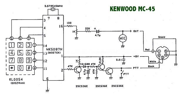 mc45  Kenwood Microphone Wiring Diagram on