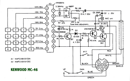 mc46  Kenwood Microphone Wiring Diagram on