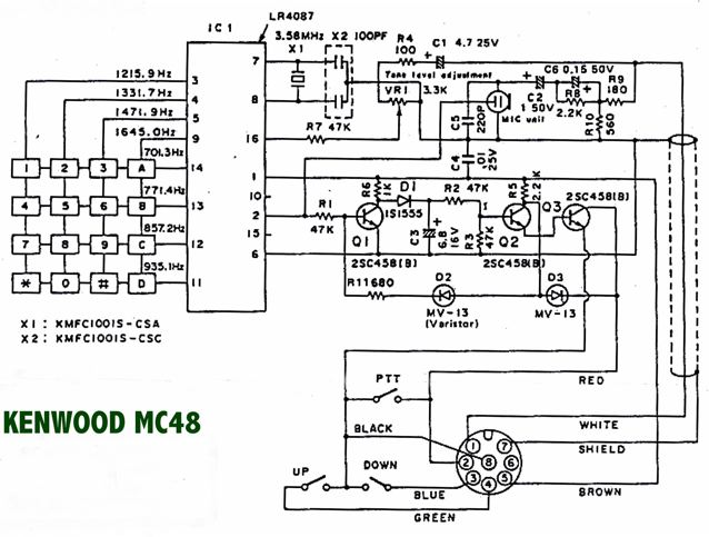 mc482  Kenwood Microphone Wiring Diagram on