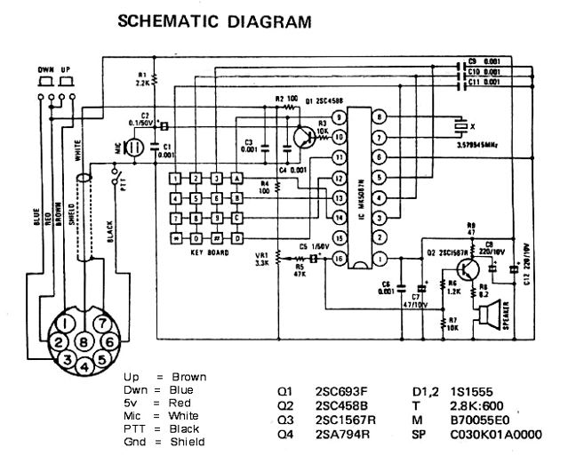 icom microphone wiring diagrams