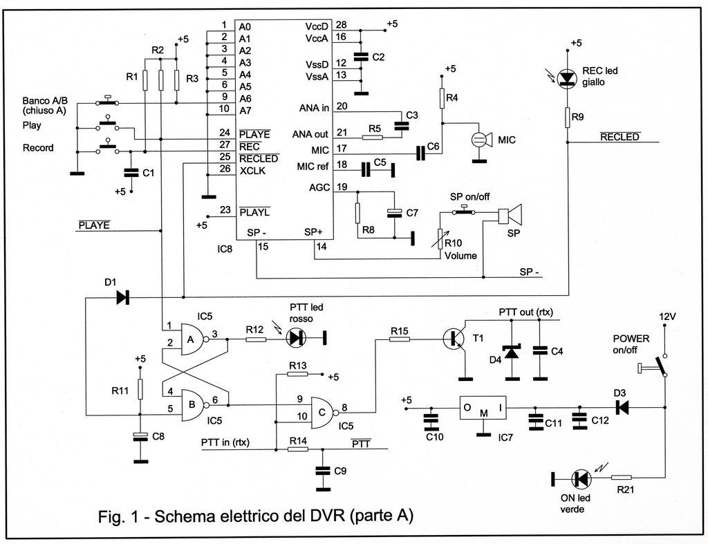 Schema Elettrico Jack 3 5 : Digital voice record per ricetrasmettitori
