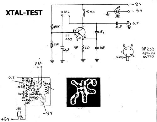 schematic of xtal