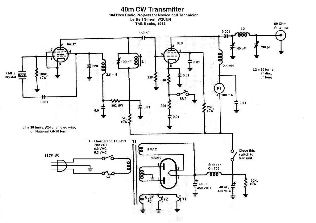 Designing ham transmitter on 5 transistor radio