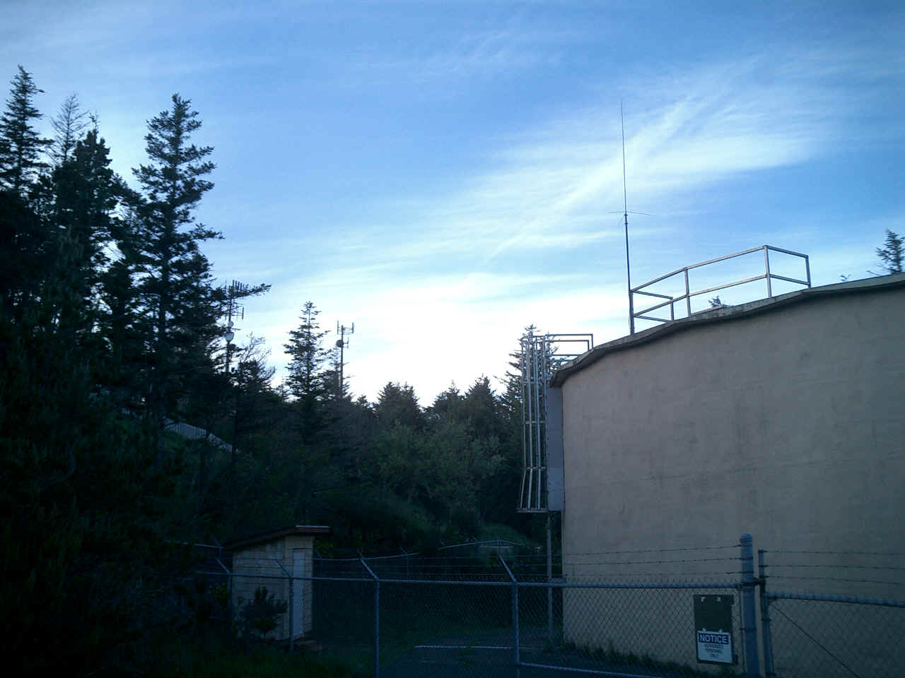 Port Orford, Oregon. POARC 2 Meter Repeater Location at the Port Orford City ...
