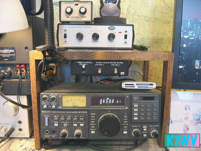 Sailor R108 marine radio receiving KXL 750 The EEB-moded Icom R71A and Ameco ...