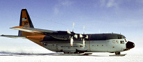 An LC-130 Aircraft arrives in McMurdo