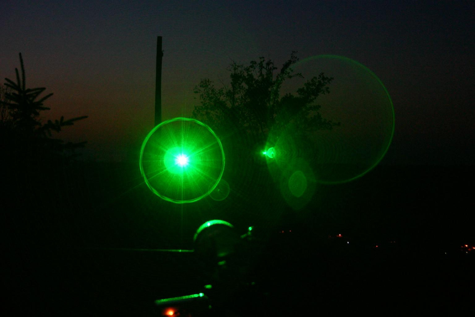 Laser communication in space