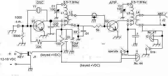 Circuit Diagram For 2w Am Transmitter Using 2n3053 - Wiring Diagram DB