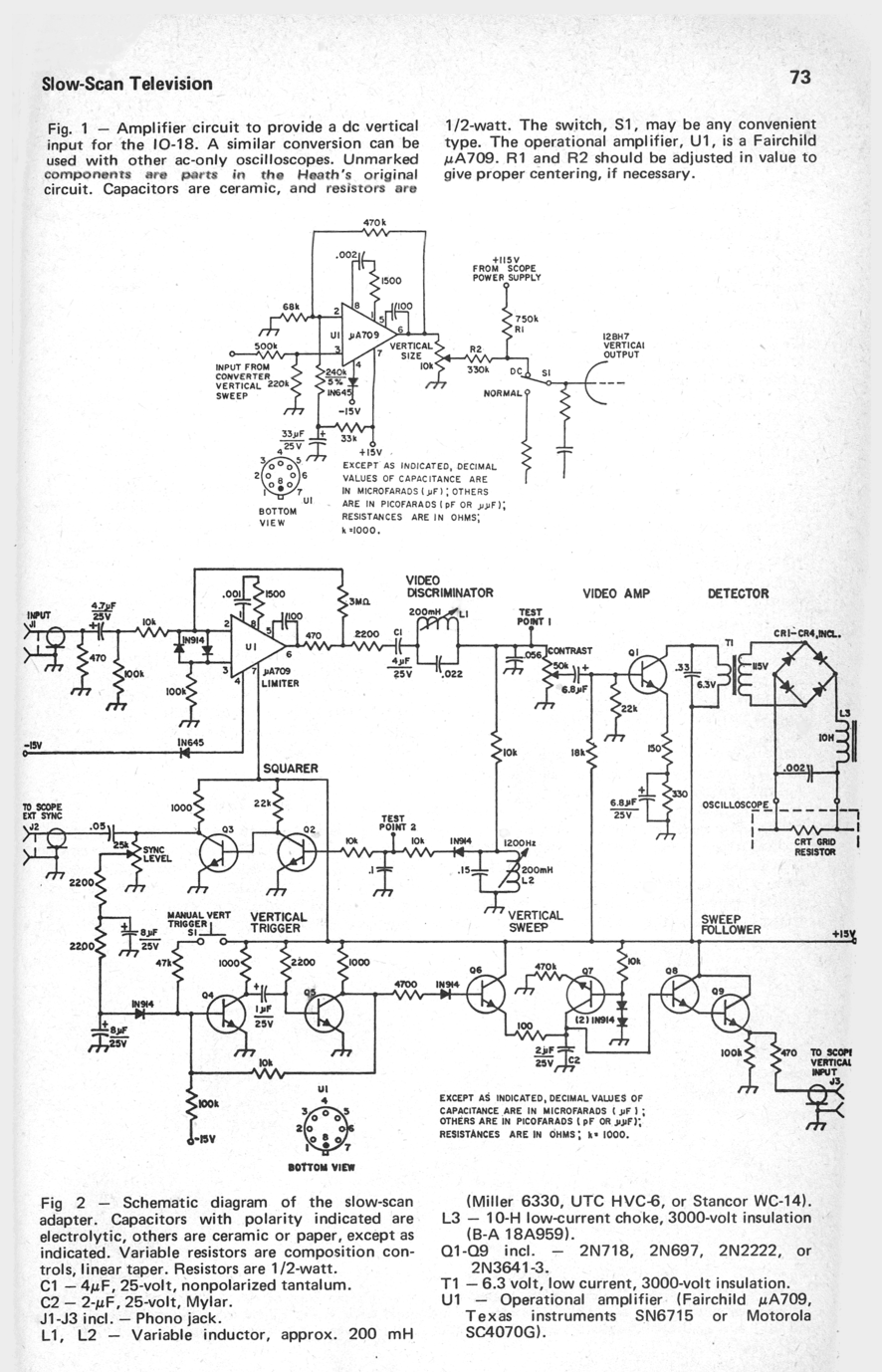 Kd2bd Revisiting Slow Scan Television Crt Screen Schematic Sstv Oscilloscope Adapter
