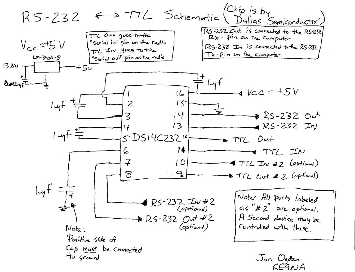 The Chip is by NATIONAL SEMICONDUCTOR not Dallas. It will be corrected the  next time I can provide a revised schematic.