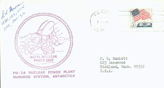 Cover from Navy Nuclear Power Unit PM-3A.