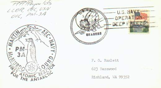 Large PM3A cachet and smaller Seabees cachet.