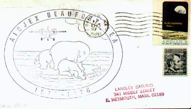 Scan of 1975 cover from the AIDJEX Beaufort Sea project.