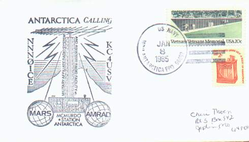 Combination MARS and AMRAD cachet on cover.